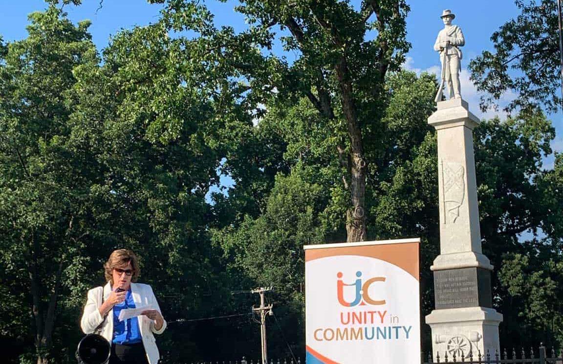 UiC Mt. Zion Confederate Soldier Monument protest 2020