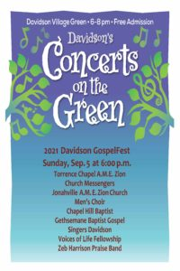 Sunday, Sept. 5 from 6-8pm Join area gospel choirs in concert - it's free!